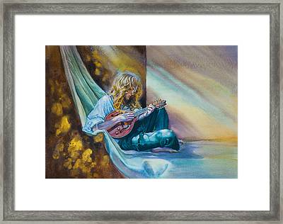 The Mandolin Player Framed Print by Gilly Marklew