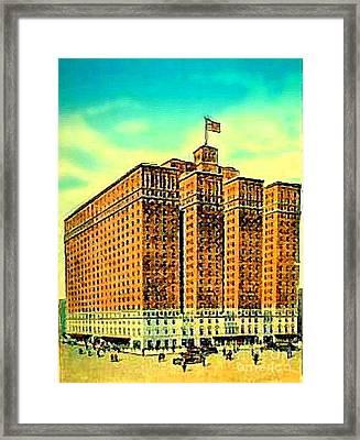 The Manger Hotel In New York City C.1920's Framed Print by Dwight Goss
