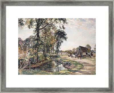 The Manor Farm Framed Print by Mark Fisher