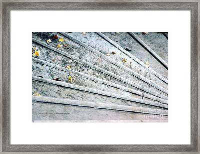The Marble Steps Of Life Framed Print