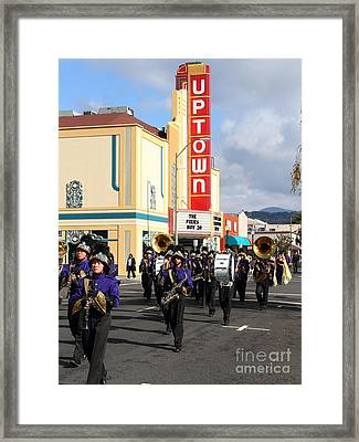 The Marching Band At The Uptown Theater In Napa California . 7d8925 Framed Print