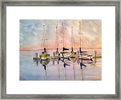 The Marina Framed Print by Eva Ason
