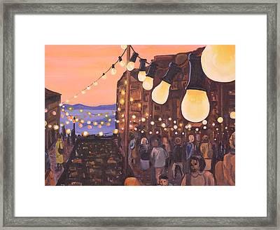 The Market At Dusk Framed Print