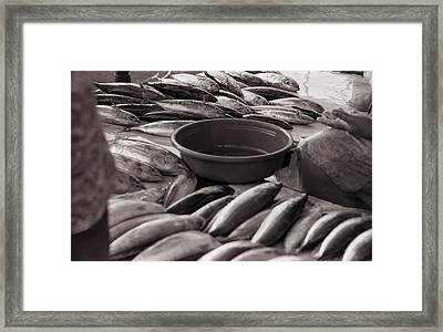 The Market Framed Print