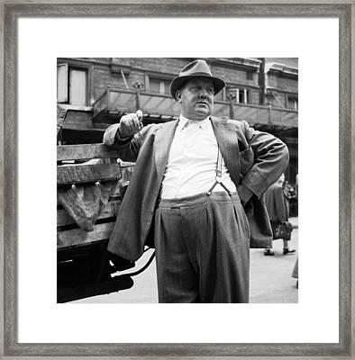 The Market Man Framed Print