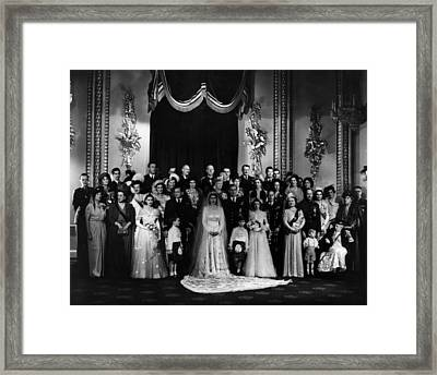 The Marriage Of Princess Elizabeth Framed Print by Everett