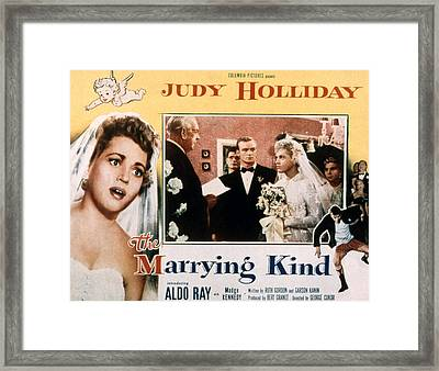 The Marrying Kind, Aldo Ray, Judy Framed Print by Everett