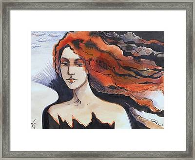 Framed Print featuring the painting The Martian by Valentina Plishchina