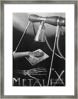 The Marvels Of Metalix 1930 Framed Print by Science Source