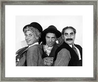 The Marx Brothers From Left Harpo Marx Framed Print
