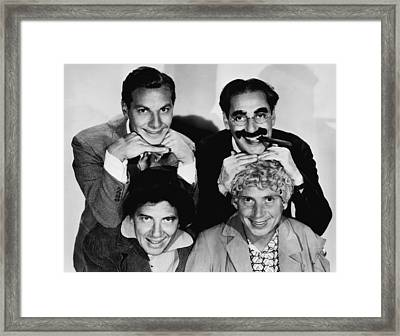 The Marx Brothers, Top Zeppo Marx Framed Print