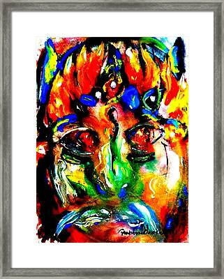 The Mask Of Devil Framed Print