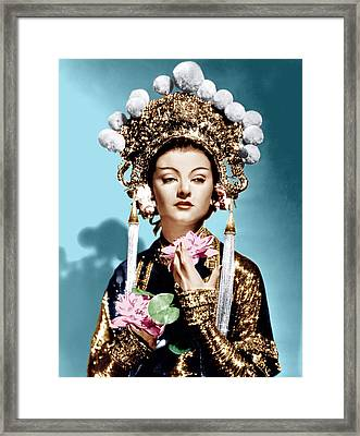 The Mask Of Fu Manchu, Myrna Loy, 1932 Framed Print by Everett