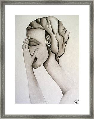 The Mask Framed Print by Simona  Mereu