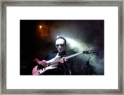 The Masked Guitarist Framed Print by Ronnie Reffin