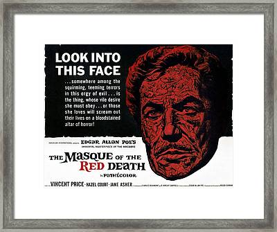 The Masque Of The Red Death, Vincent Framed Print