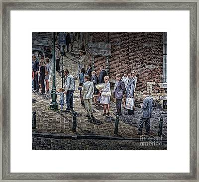 Framed Print featuring the photograph The Mass-goers Brussels by Jack Torcello
