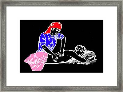 The Massage Framed Print by James Hill