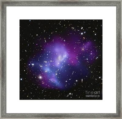The Massive Galaxy Cluster Macs J0717 Framed Print by Stocktrek Images