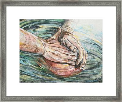 The Master Potter Framed Print by Connie Sherman