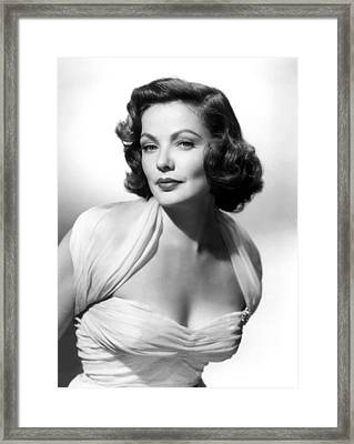 The Mating Season, Gene Tierney Framed Print