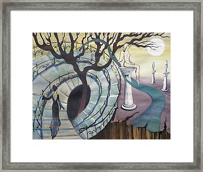 Framed Print featuring the painting The Maze by Valentina Plishchina