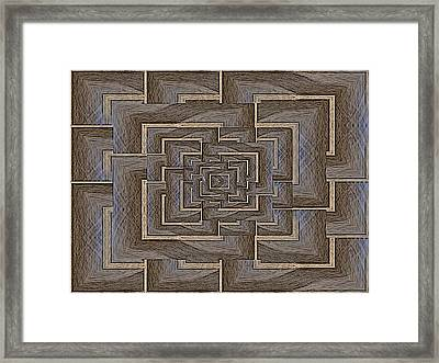 The Maze Within Framed Print by Tim Allen