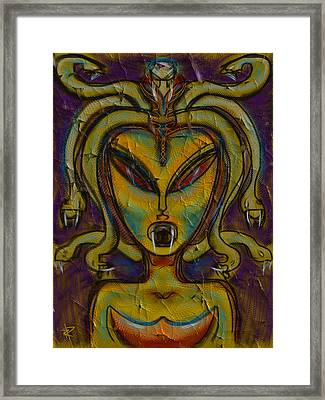 The Medusa Framed Print by Russell Pierce