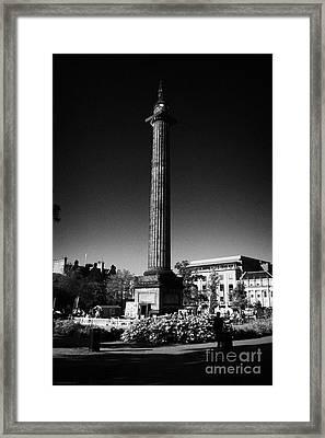 The Melville Monument St Andrew Square Edinburgh Scotland Uk United Kingdom Framed Print by Joe Fox