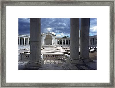 The Memorial Amphitheater At Arlington Framed Print