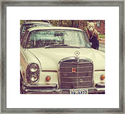 The Mercedes Sheep Framed Print by Laura George