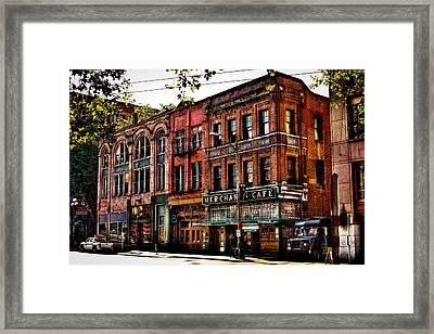 The Merchant Cafe - Seattle Washington Framed Print