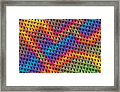 The Mesh Framed Print by Manny Lorenzo