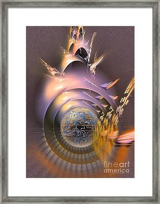 The Message - Fractal Art Framed Print by Sipo Liimatainen