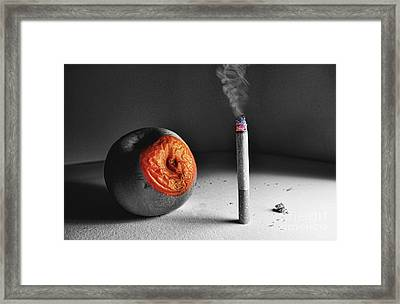 The Message  Framed Print by Besar Leka