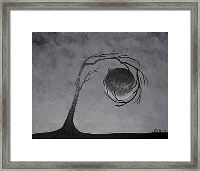 Framed Print featuring the painting The Metal Element by Edwin Alverio