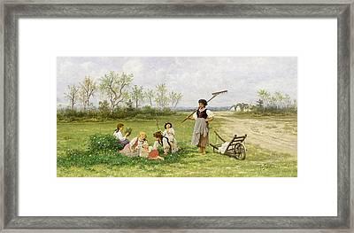 The Midday Rest Framed Print by Franciszek Streitt
