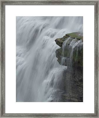 The Middle Falls I Framed Print by Neal Blizzard