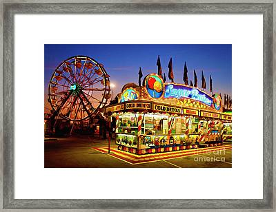 The Midway - D005715a Framed Print by Daniel Dempster