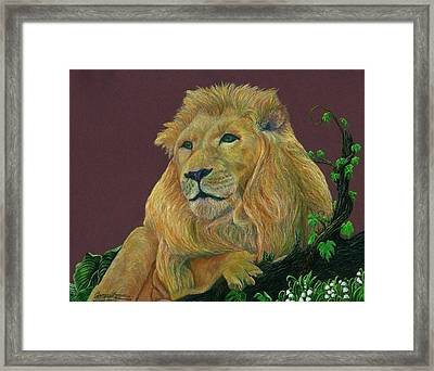 The Mighty King Framed Print by Jyvonne Inman