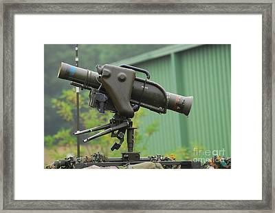The Milan, Guided Anti-tank Missile Framed Print by Luc De Jaeger