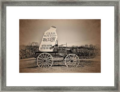 The Milk Wagon Framed Print by Bill Cannon