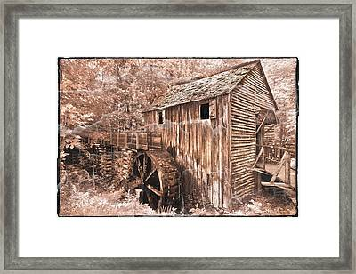 The Mill At Cade's Cove Framed Print by Debra and Dave Vanderlaan