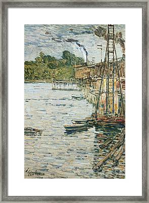The Mill Pond Framed Print by Childe Hassam