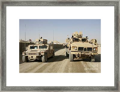 The Mine Resistant Ambush Protected All Framed Print