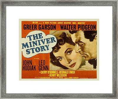 The Miniver Story, Greer Garson, Walter Framed Print by Everett