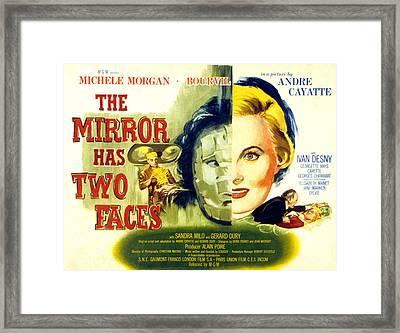 The Mirror Has Two Faces, Aka Le Miroir Framed Print by Everett