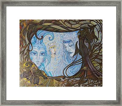 The Mirror Of Laces Framed Print