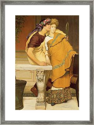 The Mirror Framed Print by Sir Lawrence Alma-Tadema