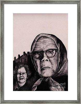 The Mirth Of Beryl And The Peril Of Meryl Framed Print by Spencer Bower